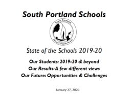 Superintendent Kunin delivers State of the Schools presentation