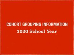 2020 Cohort Grouping Information