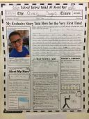 Newspaper Front Page Project at Mahoney Middle